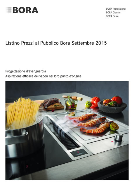 Catalogo Listino BORA - Settembre 2015